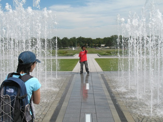 UAlbany walkthrough fountain peace guy