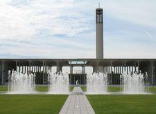 UAlbany entrance fountain