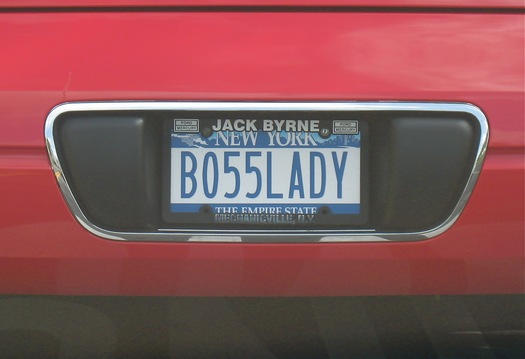 BO55LADY license plate