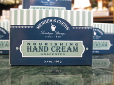 Menges and Curtis hand cream