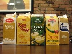 egg nog tasting lineup