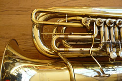 tuba closeup
