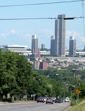 albany skyline from Rensselaer