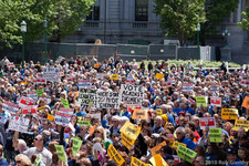 state worker furlough rally