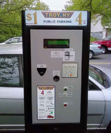 troy pay and display parking meter