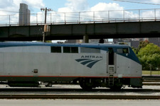 amtrak engine in Rensselaer
