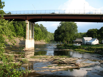 the Normanskill with Delaware Ave overhead