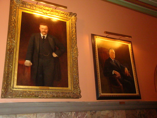 a pair of presidents, in the Hall of Governors