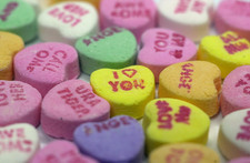 Thumbnail image for candy hearts closeup