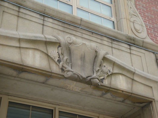 Livingston school, stonework detail