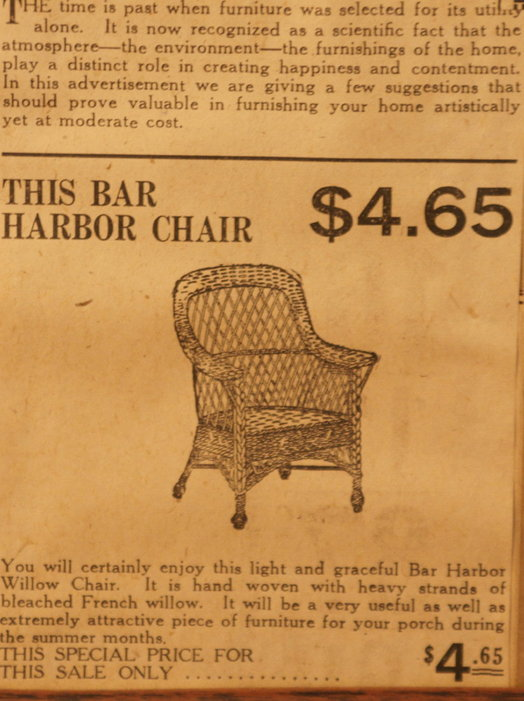 vintage ads katie Chair