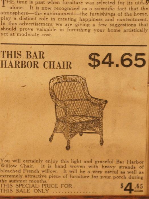 vintage ads katie Chair