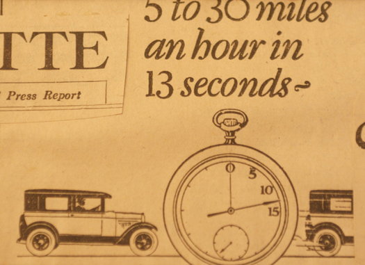 vintage ads katie Fast Car