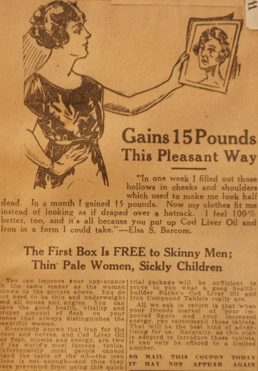 vintage ads katie Gain Pounds