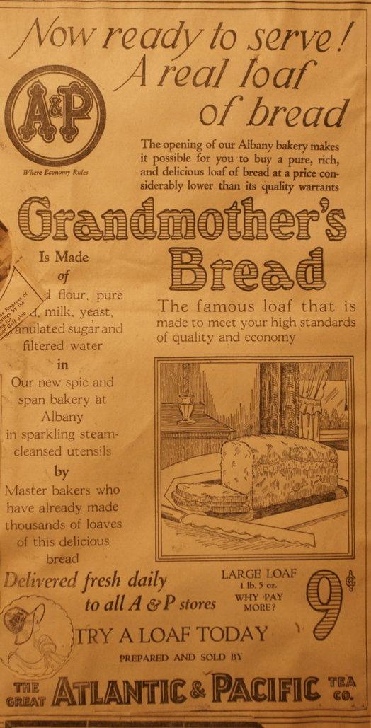 vintage ads katie Grandma Bread