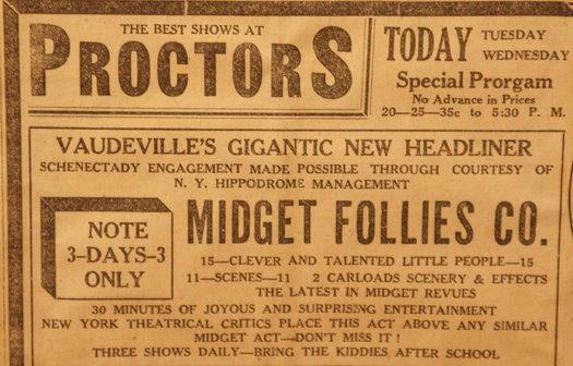 vintage ads katie Midgets at Proctors