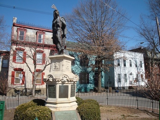 Lawrence statue in The Stockade Schenectady