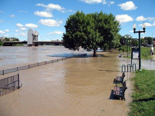 Irene flooding in Troy 2011
