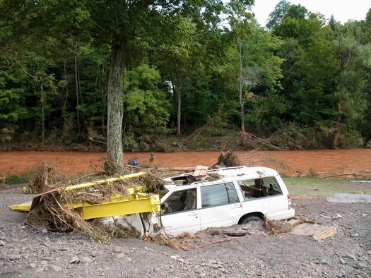 buried station wagon