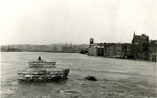 troy 1913 flood riverfront