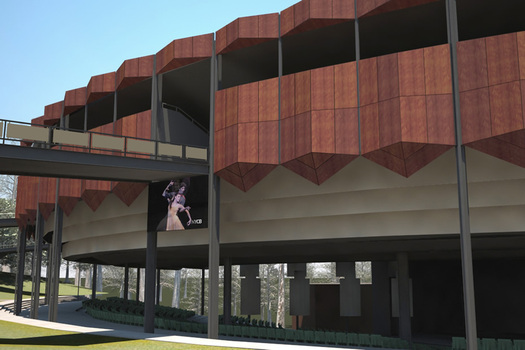 SPAC facade replacement rendering
