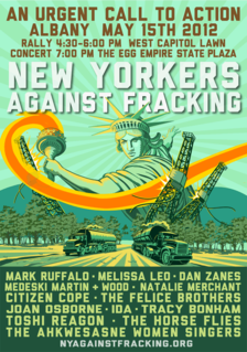 new yorkers against fracking concert the egg