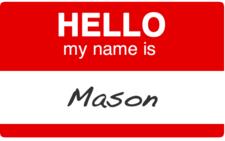 name tag mason