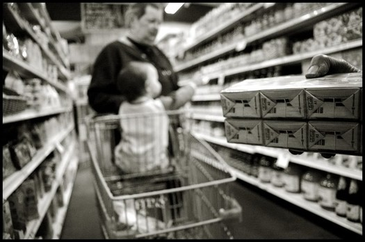 siobhan connally supermarket cart in aisle