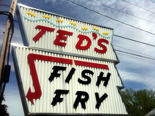 teds fish fry sign watervliet