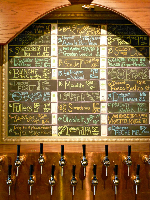 bier abbey chalkboard menu