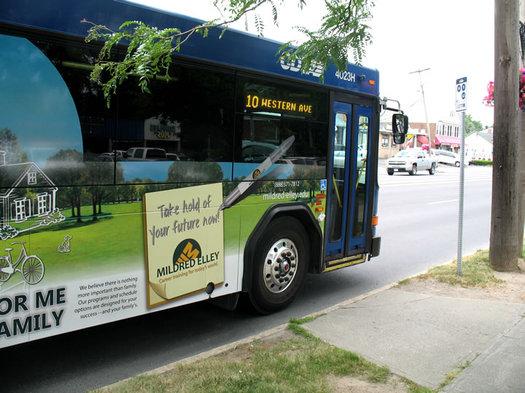 cdta bus at stop
