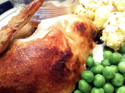 rotisserie chicken as part of dinner