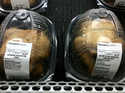 hannaford nature's place rotisserie chicken cold in case