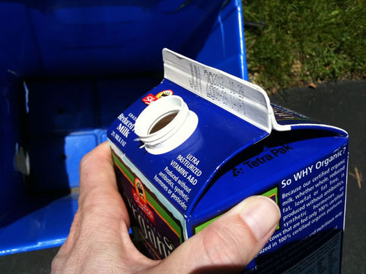 unrecycled milk carton