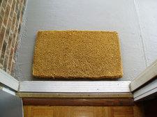 door open welcome mat