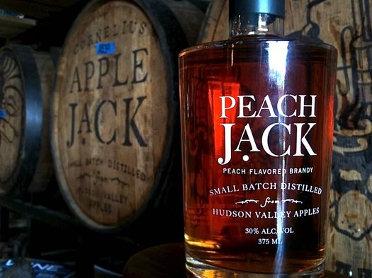 harvest spirits peach jack bottle