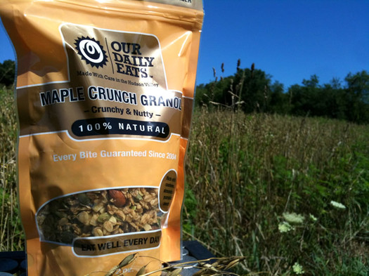 our daily eats granola bag field