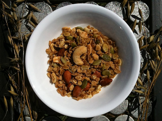 our daily eats granola overhead