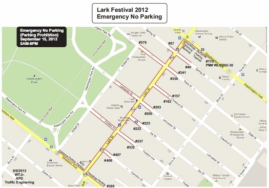 apd larkfest parking restrictions 2012