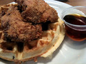 flying chicken chicken and waffles