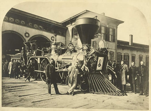 lincoln funeral train locomotive loc
