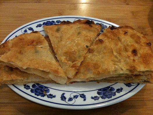taiwan noodle scallion pancakes