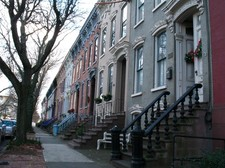 Elm Street row houses in Albany