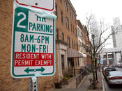 albany parking permit system sign