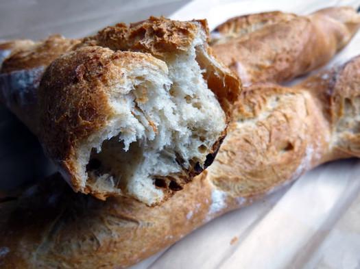 placid baker baguette closeup