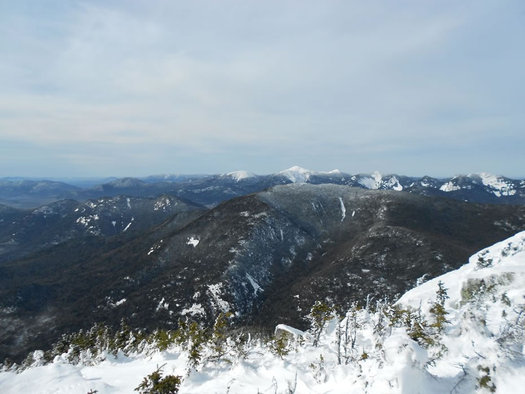 the view of the great range from the summit of Dix Mt winter