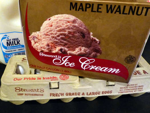 stewarts maple walnut ice cream half gallon milk eggs