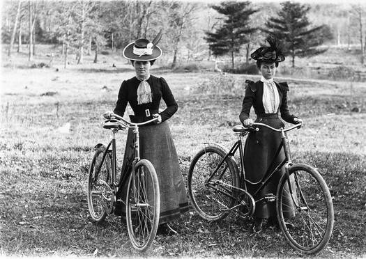 circa 1900 bicycling ladies Schenectady