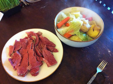 corned beef and cabbage on table flickr justgrimes