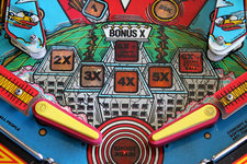 pinball machine closeup